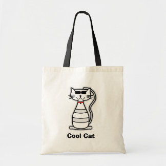 Cool Cat cute cartoon cat with sunglasses Canvas Bag