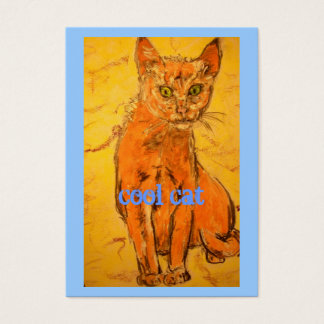 cool cat design business card