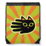 Hand shaped Cool Cat Drawstring Backpack