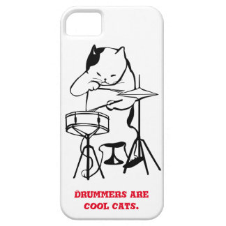 Cool Cat Drummer Phone Case