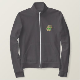 Cool Cat Embroidered Jacket