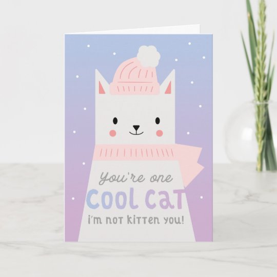 Cool Cat Funny Birthday Card