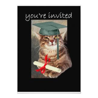 Cool Cat graduation party invitation