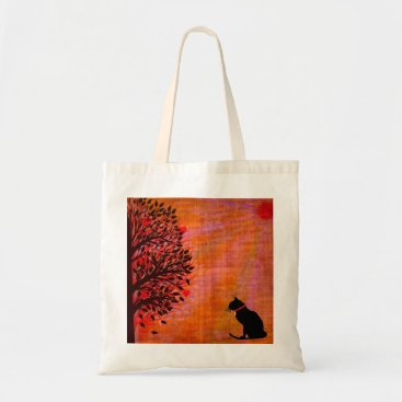 Beach Themed Cool Cat Graphic Tote