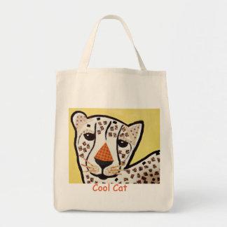 Cool Cat Grocery Tote Bag