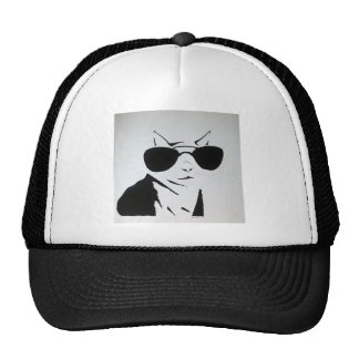 Cool Cat in Black and White Trucker Hat