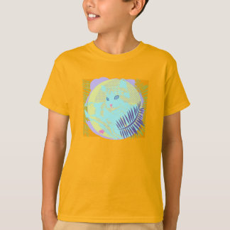 Cool Cat in Tropical Leaves T-Shirt