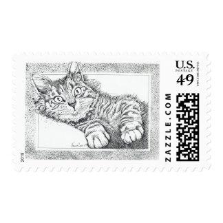 Cool Cat Kitten Stamp