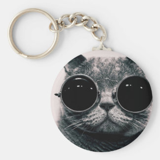 cool cat kool kat with shades keychain