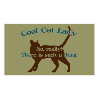 Cool Cat Lady Business Card