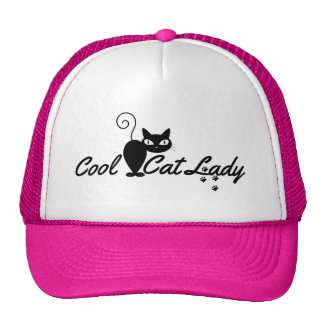 COOL CAT LADY Design Gift Present for Kitty Crazy Trucker Hat