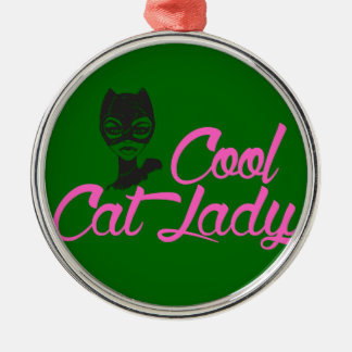 COOL CAT LADY gift present for Kitty Cat Lover Fan Metal Ornament