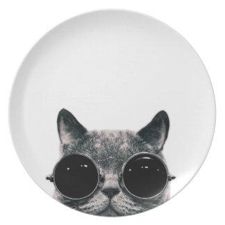 COOL CAT. MELAMINE PLATE
