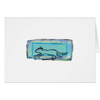 Cool cat modern hipster fun art - I Don't Care Card