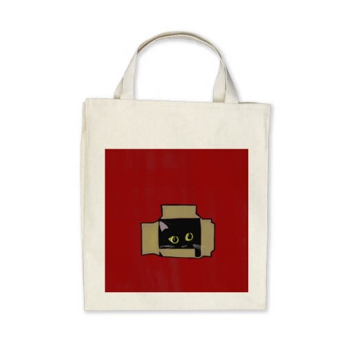 Cool Cat organic tote Bags