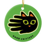 Hand shaped Cool Cat ornament