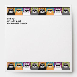 Cool Cat Square Envelope