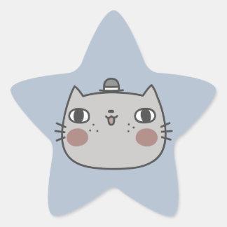 Cool Cat Star Sticker