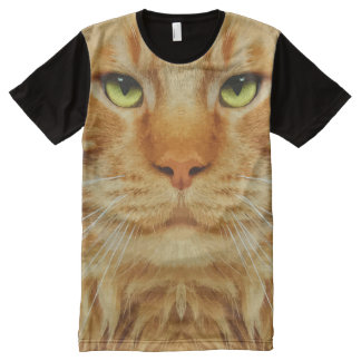 Cool Cat Theme All-Over Print T-shirt