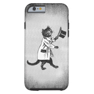 Cool Cat Vintage Black White Etching iPhone Case