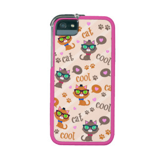 Cool Cat Vintage Hipster iPhone 5/5S Case
