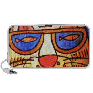 Cool Cat Wearing Shades Notebook Speakers
