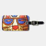 Cool Cat Wearing Shades Tag For Luggage