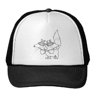 Cool Cat Wearing Sun Glasses Trucker Hat