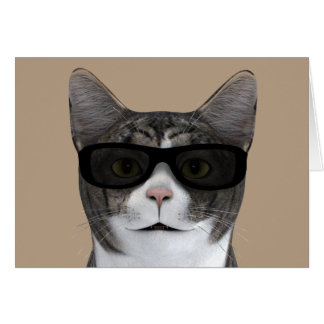 Cool Cat With Black Sunglasses Card