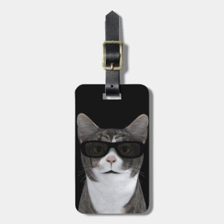 Cool Cat With Black Sunglasses Luggage Tag
