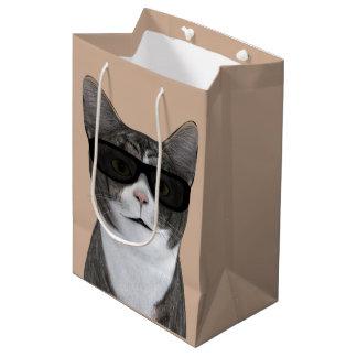 Cool Cat With Black Sunglasses Medium Gift Bag