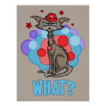 Cool Cat with Red Hat Posters