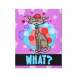 Cool Cat with Red Hat Stretched Canvas Print