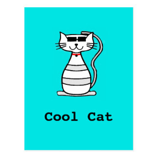 Cool Cat with sunglasses Postcard