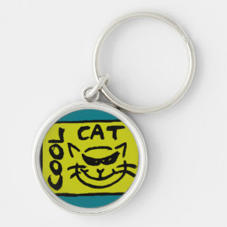 COOL CAT ( yellow ) Keychain