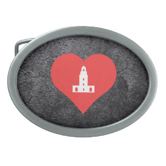 Cool Cathedrals Picto Belt Buckles