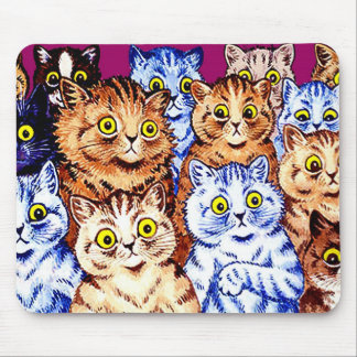 Cool Cats by Louis Wain Mouse Pad