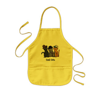 Cool Cats Kids' Apron
