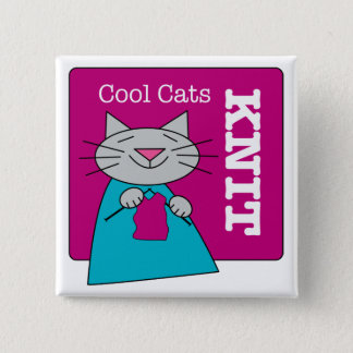 Cool Cats Knit Button