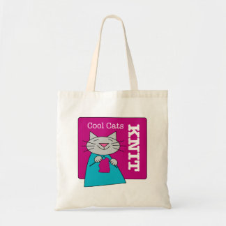Cool Cats Knit Tote Bag