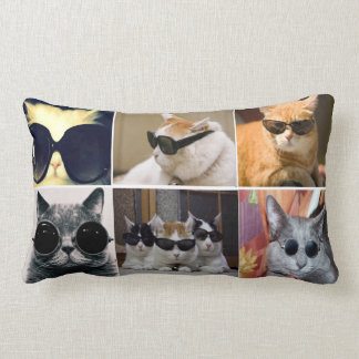 Cool Cats Lumbar Throw Pillow