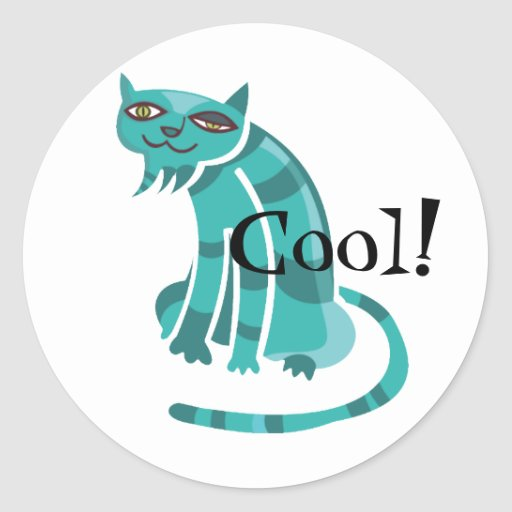 Cool Cats Round Stickers