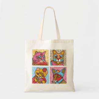 Cool Cats Tote Canvas Bags
