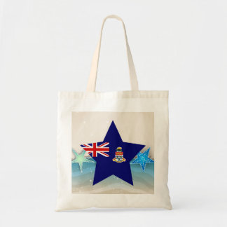 Cool Cayman Islands Flag at the Beach Budget Tote Bag