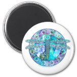 Cool Celtic Dragonfly 2 Inch Round Magnet