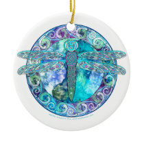 Cool Celtic Dragonfly Ornament