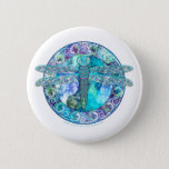Cool Celtic Dragonfly Pinback Button