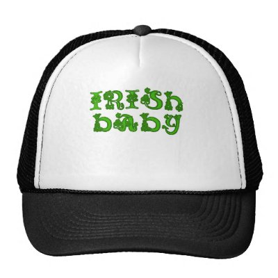 Cool Celtic Font Irish Baby Products Hat by LeprechaunGifts