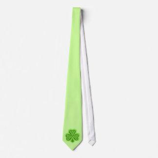 Cool Celtic Knot Shamrock Tie
