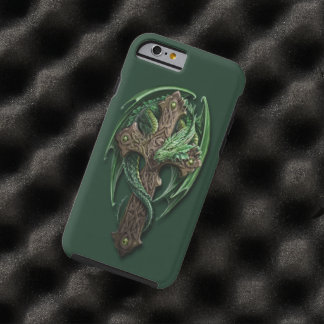 Cool Celtic Tribal Cross Dragon Tattoo Art Design Tough iPhone 6 Case